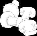 Mushrooms Line Art