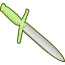 download Simple Pagan Knife Icon clipart image with 45 hue color