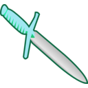 download Simple Pagan Knife Icon clipart image with 135 hue color