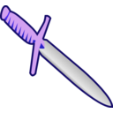 download Simple Pagan Knife Icon clipart image with 225 hue color