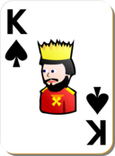 White Deck King Of Spades