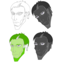 download Scary Face clipart image with 45 hue color