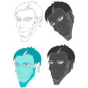 download Scary Face clipart image with 135 hue color