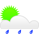 download Sun Rain clipart image with 45 hue color