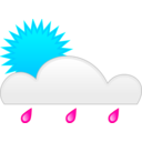 download Sun Rain clipart image with 135 hue color