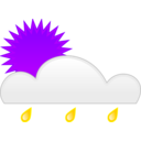 download Sun Rain clipart image with 225 hue color
