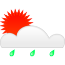 download Sun Rain clipart image with 315 hue color