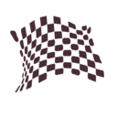 download Chequered Flag Abstract Icon clipart image with 135 hue color