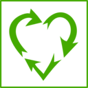 Eco Green Love Recycle Icon