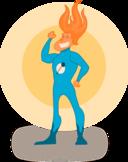 Super Hero Flame