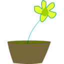 download Flower In A Vase clipart image with 45 hue color