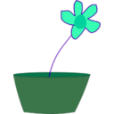 download Flower In A Vase clipart image with 135 hue color