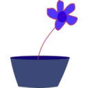 download Flower In A Vase clipart image with 225 hue color