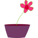 download Flower In A Vase clipart image with 315 hue color