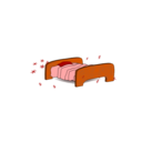 download Bed clipart image with 0 hue color