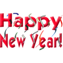 download Happy New Year clipart image with 135 hue color