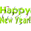 download Happy New Year clipart image with 225 hue color