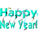 download Happy New Year clipart image with 315 hue color