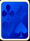 Card Backs Suits Blue