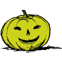 download Smily Pumpkin clipart image with 45 hue color