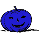 download Smily Pumpkin clipart image with 225 hue color
