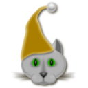 download Xmascat clipart image with 45 hue color