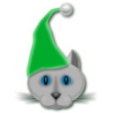 download Xmascat clipart image with 135 hue color