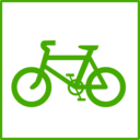 Eco Green Bicycle Icon