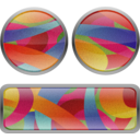 Multicolored Film Grained Buttons