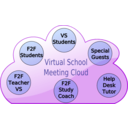 download Virtual School Cloud clipart image with 45 hue color