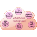 download Virtual School Cloud clipart image with 135 hue color