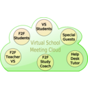 download Virtual School Cloud clipart image with 225 hue color