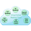 download Virtual School Cloud clipart image with 315 hue color