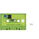 download Compact Cassette clipart image with 225 hue color