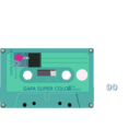 download Compact Cassette clipart image with 315 hue color