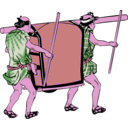 download Palanquin clipart image with 270 hue color