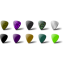 download Guitar Pick Set clipart image with 45 hue color
