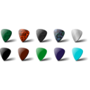 download Guitar Pick Set clipart image with 135 hue color