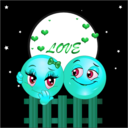 download Night Lovers Smiley Emoticon Valentine clipart image with 135 hue color