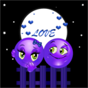 download Night Lovers Smiley Emoticon Valentine clipart image with 225 hue color