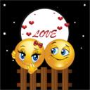 Night Lovers Smiley Emoticon Valentine
