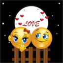 Night Lovers Smiley Emoticon Valentine