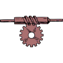 download Worm Gear clipart image with 315 hue color