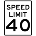 download Speed Limit 40 clipart image with 315 hue color