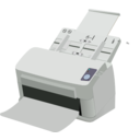download Sheet Fed Scanner clipart image with 45 hue color