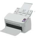 download Sheet Fed Scanner clipart image with 90 hue color