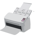 download Sheet Fed Scanner clipart image with 135 hue color