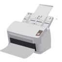 download Sheet Fed Scanner clipart image with 180 hue color