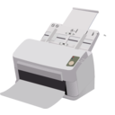 download Sheet Fed Scanner clipart image with 225 hue color