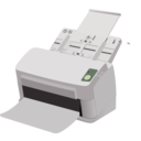 download Sheet Fed Scanner clipart image with 270 hue color